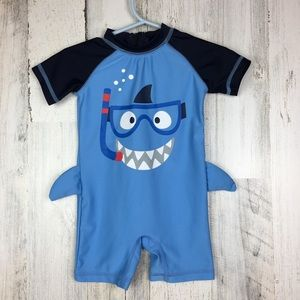 Koalakids | One Piece Swim Suit Shark Fins (3-6Mo)